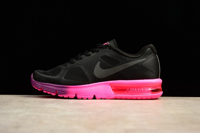 94a06999519 Beautiful Design Nike Air Max Sequent 2 Black Pink 719916 015 Women s  Running Shoes - ShoesGain.com