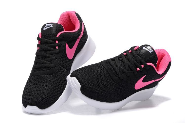 black and pink nike tanjun