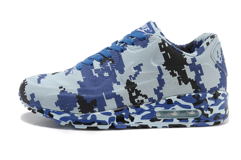 finest selection 3392d 2ef0e Nike Air Max 90 VT Black Blue Camouflage ...