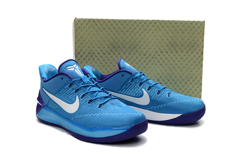 ... Zero Defect Nike Kobe A. D. Blue Purple Men s Casual Sports Basketball  Shoes a1928aa7b