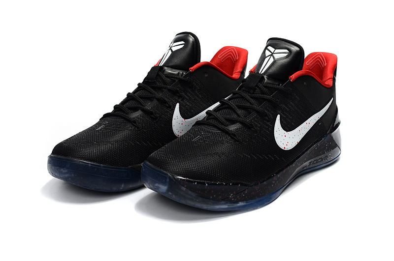 sports shoes 4afa8 ec29a ... Beautiful Design Nike Kobe A. D. Black White Red Men s Casual Sports  Basketball Shoes ...