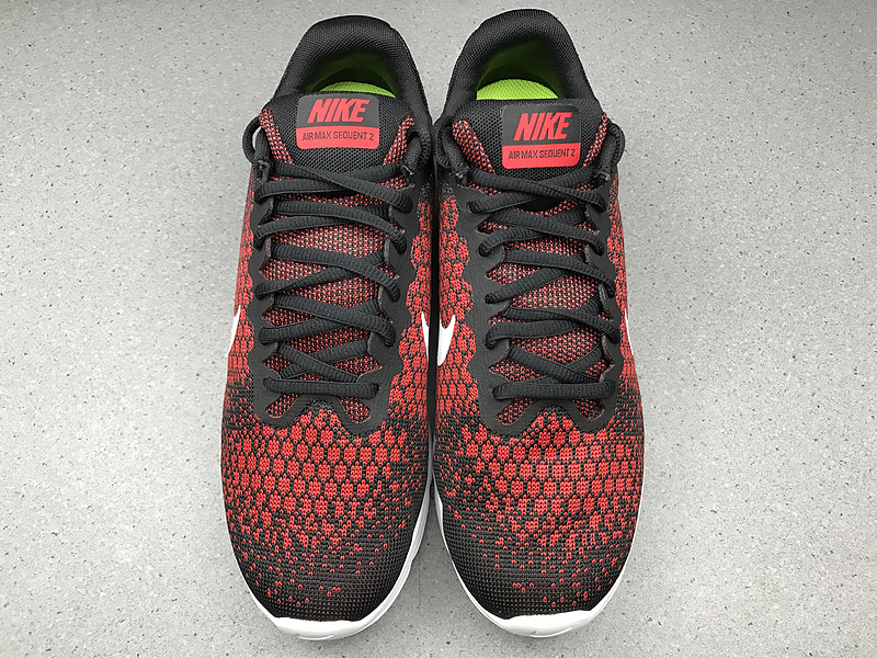 25e7835d50 Exceptional Nike Air Max Sequent 2 Black Red 852461 006 Men's Running Shoes  ...