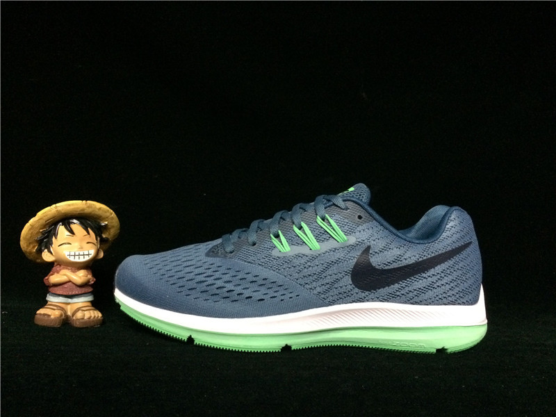 31ce089bede53 Stylish Nike Zoom Winflo 4 Blue Green 898466 004 Men s Running Shoes ...
