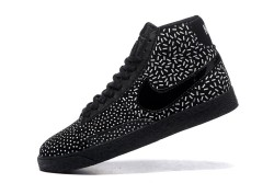 35e6979716a3 Skillful Manufacture Wmns Blazer Mid Textile Print Black White 536698 003  Unisex High Casual Shoes