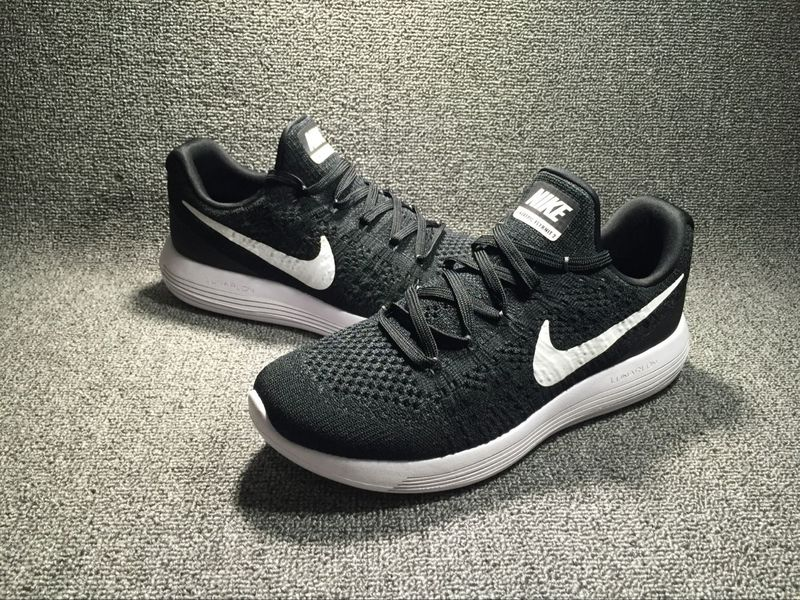 3b917f0a86c Nike LunarEpic Low Flyknit 2 Black White 863779 001 Men s Shoes ...