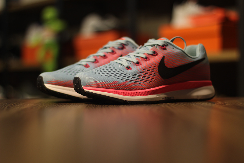 outlet store 134d9 ec39a Utility Nike Air Zoom Pegasus 34 Grey Pink 880560 406 Women s Running Shoes  ...