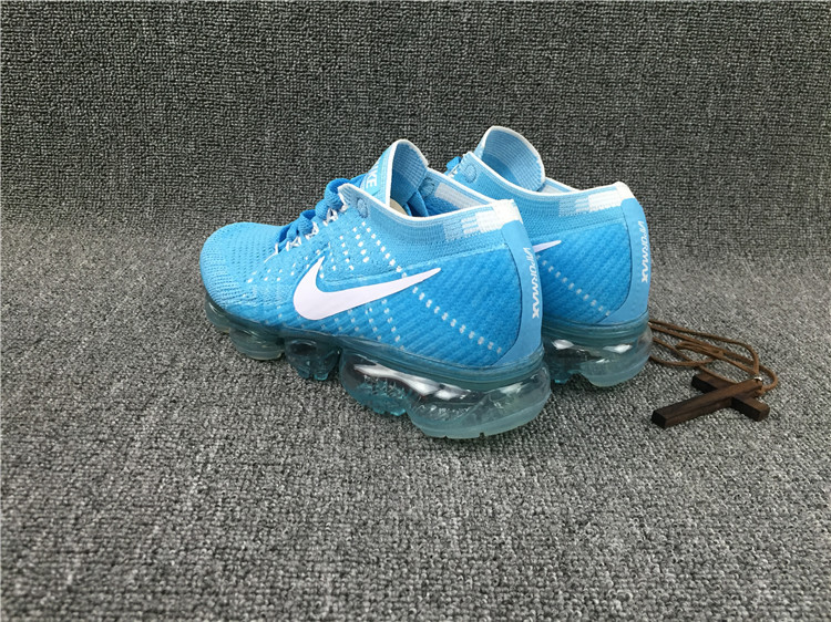 939ce3be0e3d7 ... Skillful Manufacture Nike Flyknit Air VaporMax 2018 Sky Blue White  Knitting Running Shoes ...