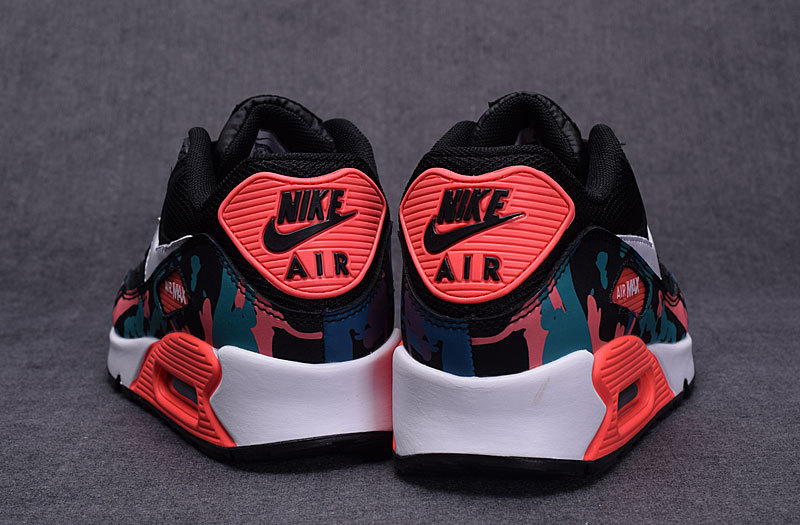 release date 88d1e 069aa ... Top Quality Nike Air Max 90 Black Red Women s Running Shoes ...