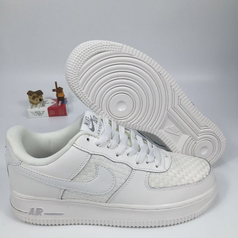 New Pattern Nike Air Force 1 Blanc 718152 105 Unisex Low Casual