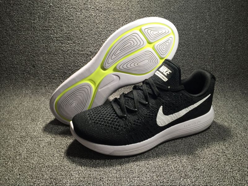 85078822918 Nike LunarEpic Low Flyknit 2 Black White 863779 001 Men s Shoes ...