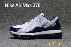 new arrival 64a0c aeef5 Superior Quality Nike Air Max 270 White Blue Mens  Sport Running Shoes ... e04a90f71