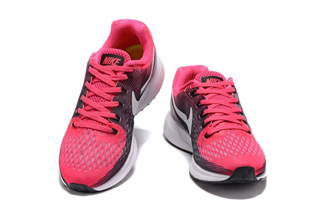 new product 63264 19fd1 Contracted Wmns Nike Air Zoom Pegasus 34 Pink Black White 880560 602  Women s Sport Shoes ...