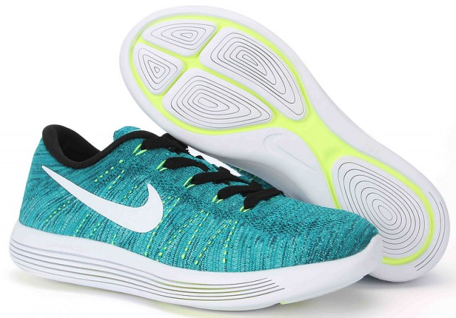 ... Superior Nike Lunarepic Low Flyknit Green White 843764 301 Men s  Running Shoes ... 381e94b92b74