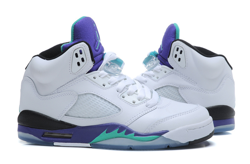 the best attitude 8948a acf89 ... store sophisticated technology nike air jordan 5 white green purple  440888 108 unisex basketball shoes 4ee80