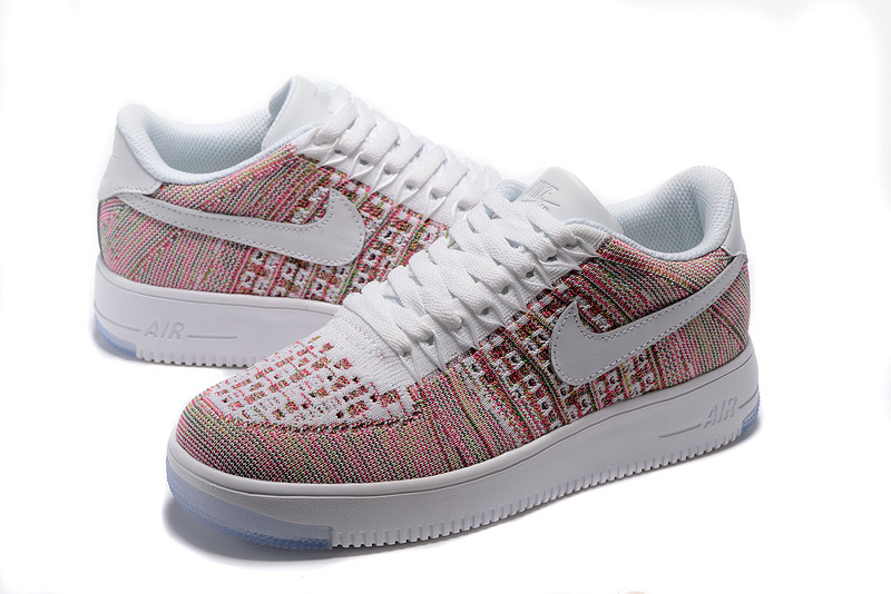 384c70b1ab5f5 ... Delicate Wmns Nike Air Force 1 Flyknit Pink White 817420 403 Women s  Casual Shoes ...