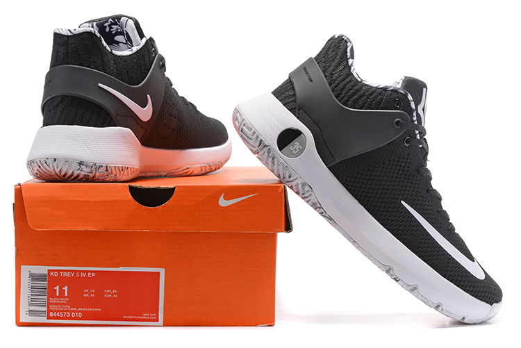 official photos 8d40f baa1d ... Serviceable Nike KD Trey 5 IV EP Black White Men s Basketball Shoes