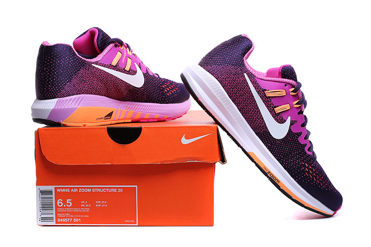 ... Nike Air Zoom Structure 20 Purple Orange White 849577 501 Women's  Running Shoes