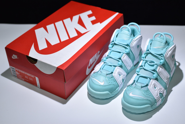 reputable site 239dd e3192 ... Nike Air More Uptempo Mint Green White 415082 300 Women s Sport Running  Shoes