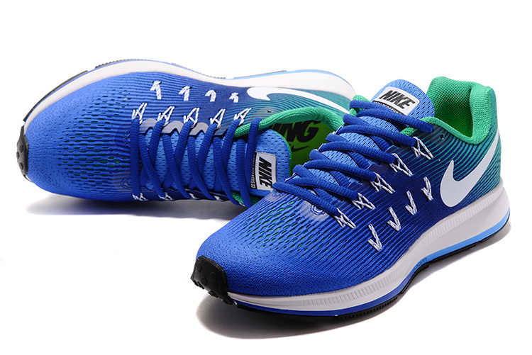 big sale c858a 30439 ... Zero Defect Nike Zoom All Out Flyknit 33 Blue Green White 831352 403  Men s Sport Shoes ...