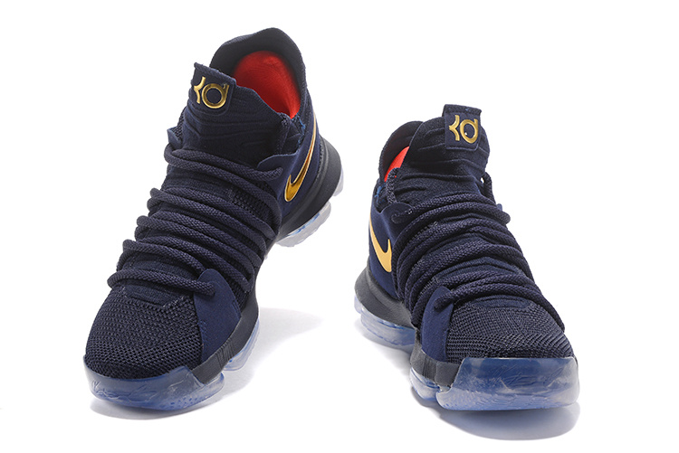 1cadfa8d152 ... Classic Nike Zoom KD 10 Blue Golden 897815 022 Men s Basketball Shoes  ...
