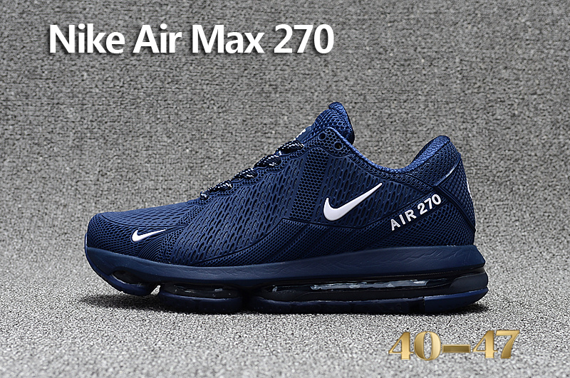 Best Sell Nike Air Max 270 Blue White Men's Sport Running Shoes Sneakers -  ShoesGain.com