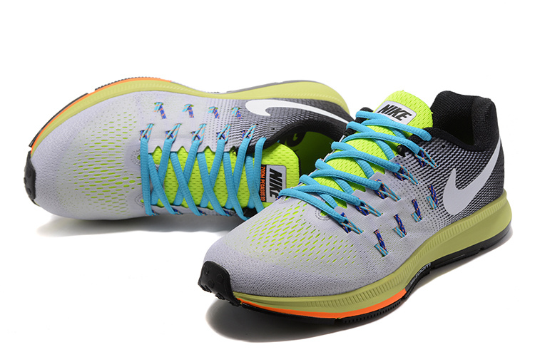 new arrivals 07c84 4a8ba ... Deft Design Nike Zoom All Out Flyknit 33 Grey Black Green Blue White  831352 017 Men s ...