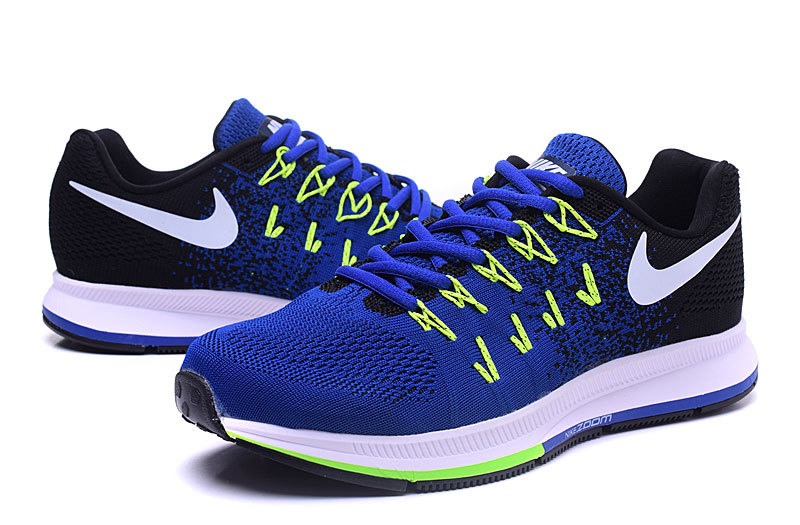 afcbd5d4840c0 ... Nike Air Zoom Pegasus 33 Black Blue Green White Men s Running Shoes ...
