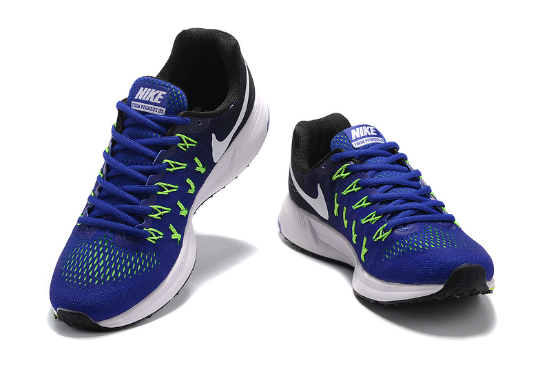 b538ef397d8 Interesting Nike Air Zoom Pegasus 33 Blue Black Green White 831352 400 Men s  Running Shoes ...