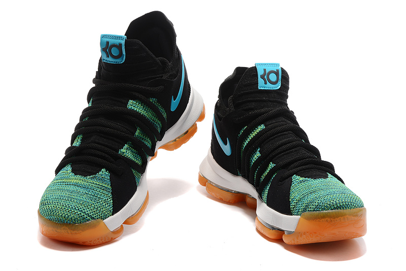 621027475677 ... New Product Nike Zoom KD 10 Black Blue Green Men s Basketball Shoes ...