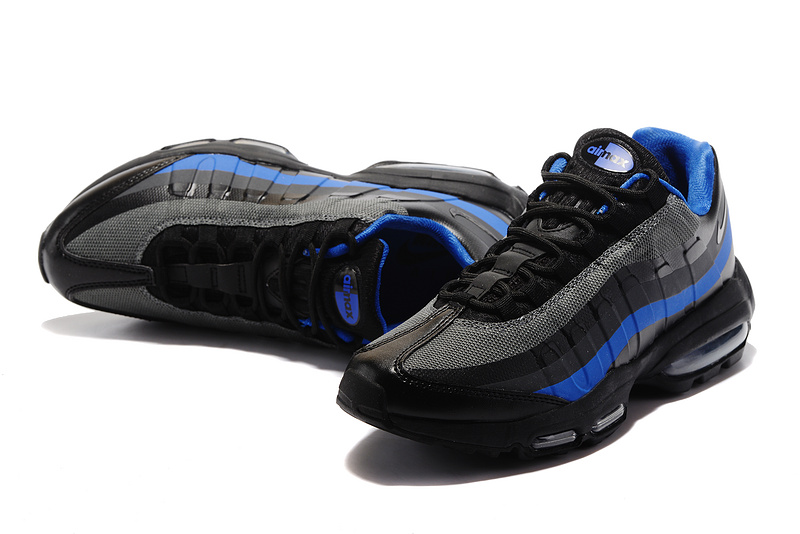 more photos d1c3d 1a59d Hot Sale Nike Air Max 95 Black Blue Men's Running Shoes #DC001245