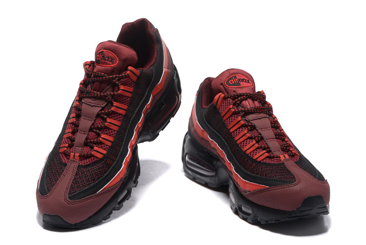 wholesale dealer 5ed14 0cbb4 ... Utility Nike Air Max 95 Essential Black Red 749766 600 Unisex Retro  Running Shoes ...