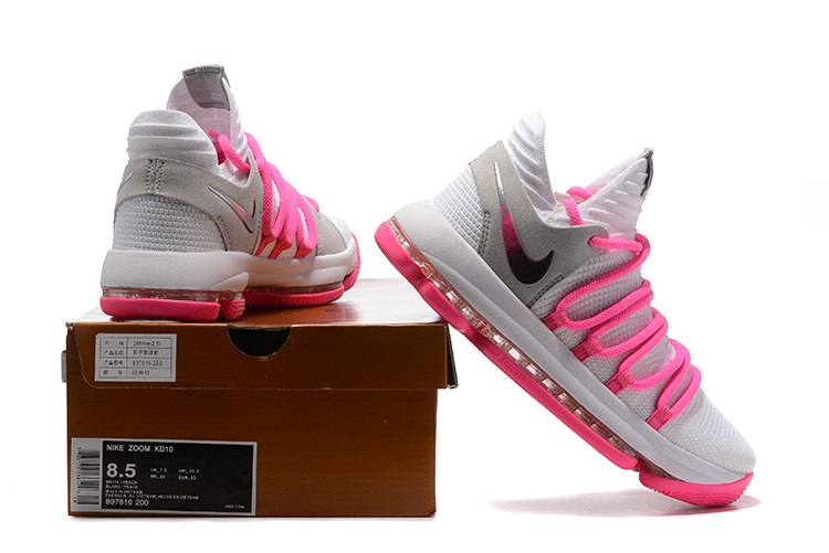 ddef4207ff27 Utility Nike Zoom KD 10 Pink White Men s Basketball Shoes ...