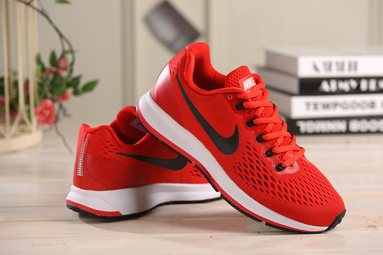 8f72a862a ... Wmns Nike Air Zoom Pegasus 34 Red Black White 880555 600 Men's Sport  Shoes ...