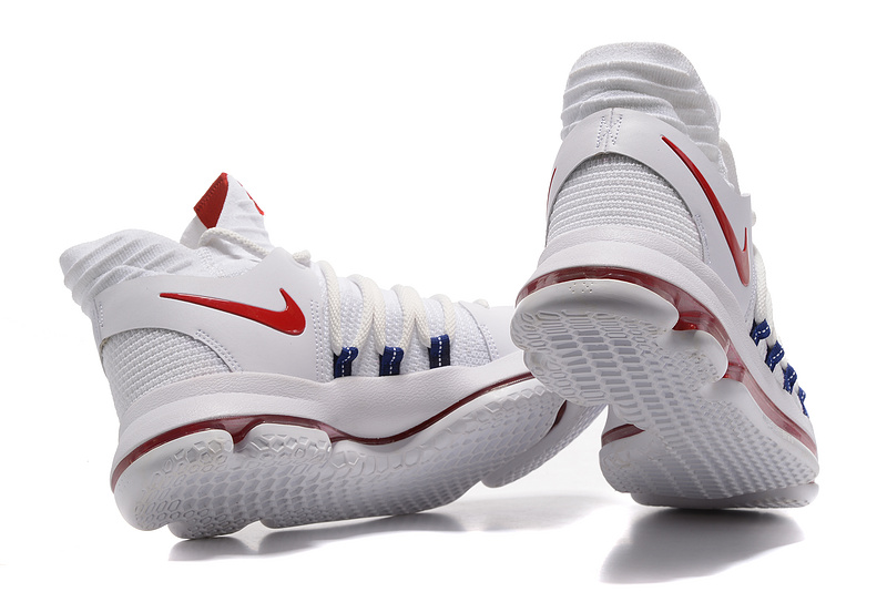 b866622c159 ... Superior Quality Nike Zoom KD 10 White Red Men s Basketball Shoes ...