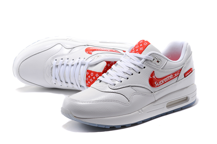 the best attitude 29fa7 6a76d ... Reliable Quality Nike Air Max Lunar 1 Master White Red 918354 101  Unisex Running Shoes ...