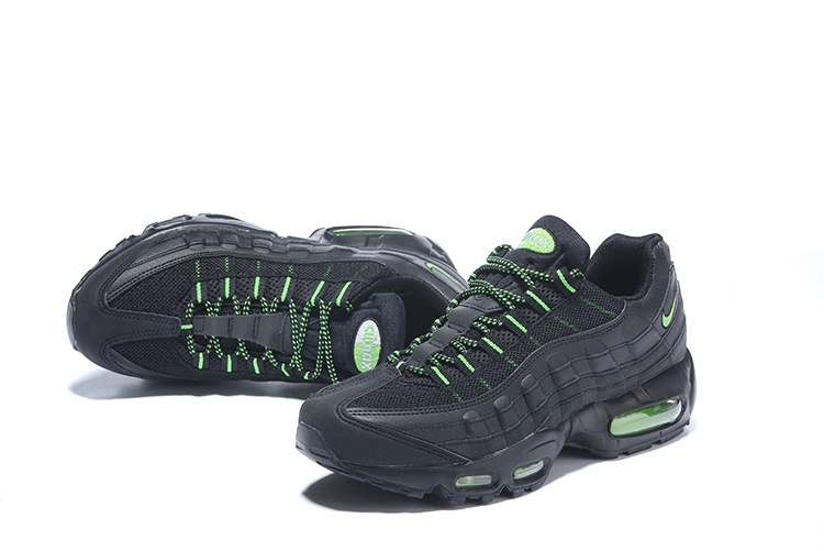 new styles d1312 6e9e3 Nike Air Max 95 Essential Black Green 749766 006 Men s Retro Running Shoes  ...