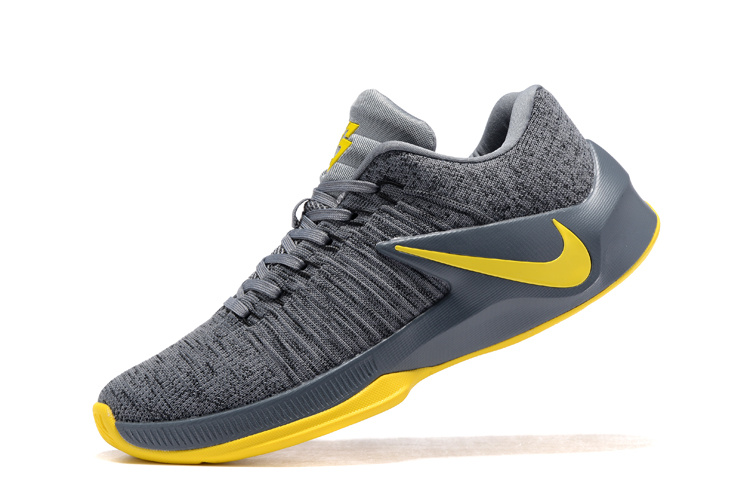 pretty nice 9ac29 55c4c Popular Nike Zoom Clear Out Grey Yellow Men's Basketball Shoes ...