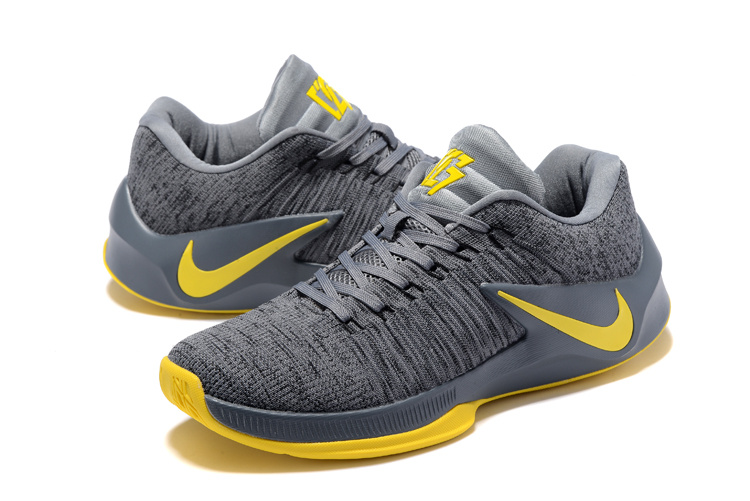 on sale 0984f 5319d ... cheapest popular nike zoom clear out grey yellow mens basketball shoes  6f6cd 8f8c2