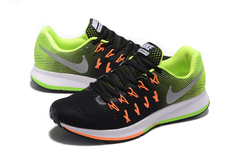 c9f8a73b208066 ... Have Personality Nike Air Zoom Pegasus 33 Black Green Orange 831352 006 Men s  Running Shoes ...