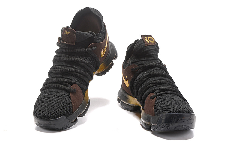 superior quality 7dbcf bd8e5 ... Reliable Quality Nike Zoom KD 10 Black Golden 897815 109 Men s  Basketball Shoes ...
