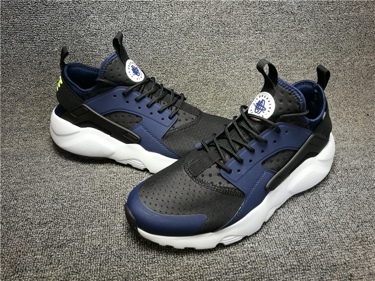 best sneakers f049f 4d93b ... Perfect Nike Air Huarache Run Ultra Black Blue White 819685 403 Men s  Running Shoes ...