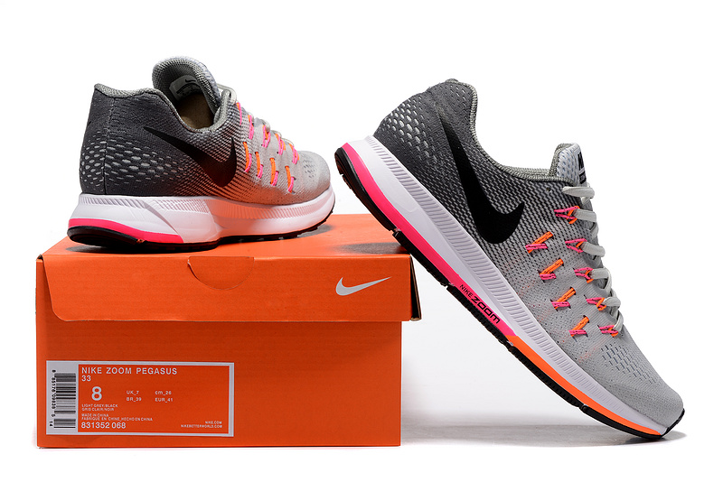 b17695f6cad5e closeout zero defect nike air zoom pegasus 33 grey black orange white  831352 068 mens running