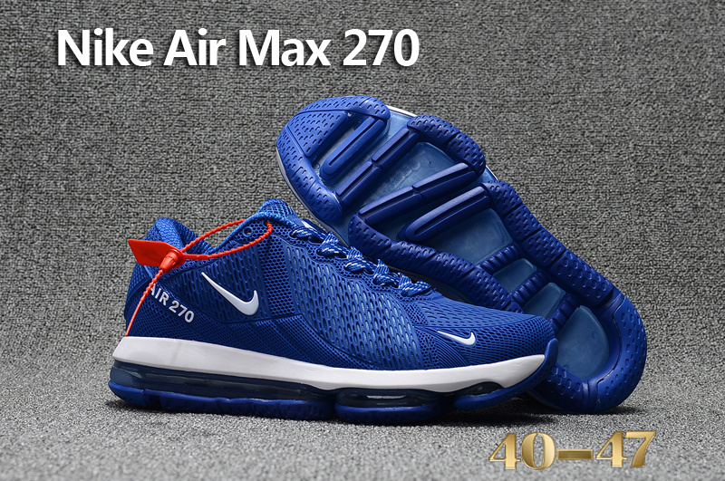 ... Impeccable Nike Air Max 270 Blue White Men s Sport Running Shoes  Sneakers ... fd940407f