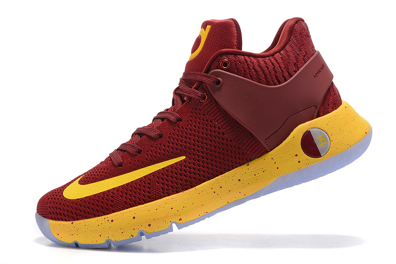 1206023e8d0f Superior Nike KD Trey 5 IV EP Wine Red Yellow Men s Basketball Shoes ...