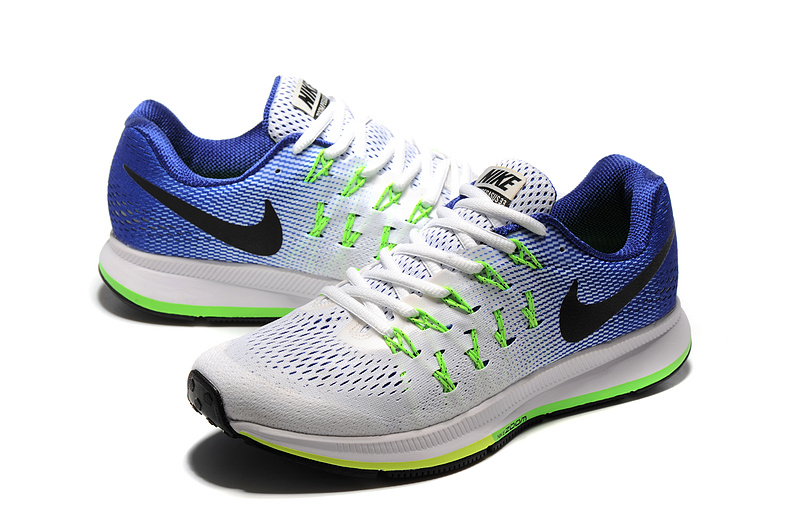 3cf98355b2ee4 ... Nike Air Zoom Pegasus 33 Blue Green Black White 831352 103 Men s  Running Shoes ...