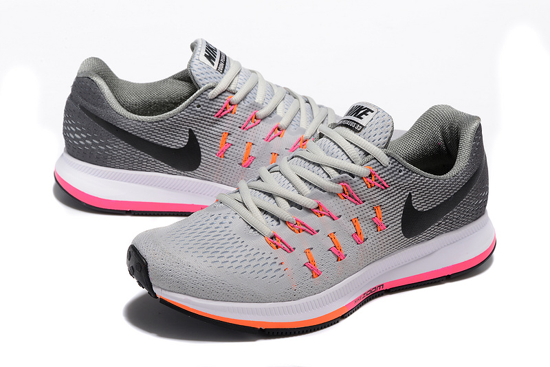 4927ab64bbf40 ... Zero Defect Nike Air Zoom Pegasus 33 Grey Black Orange White 831352 068 Men s  Running Shoes ...