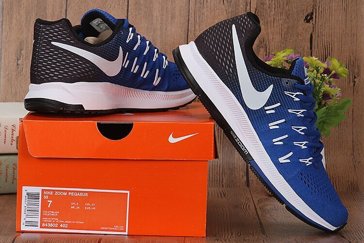 sports shoes 4f480 7372a ... High Quality Nike Air Zoom Pegasus 33 Blue Black White 843802 402 Men s  Running Shoes ...