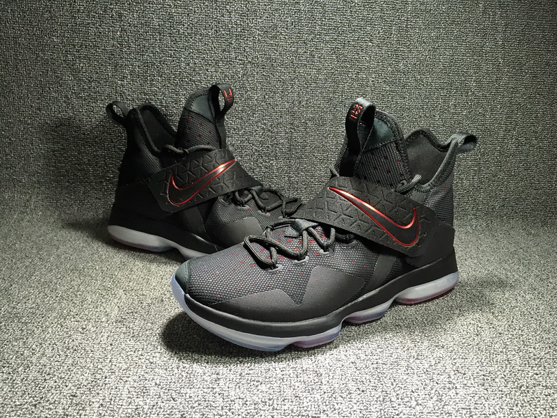 14bfb3a2966 ... Exceptional Nike LeBron XIV EP Black Red 921084 004 Men s Basketball  Shoes ...