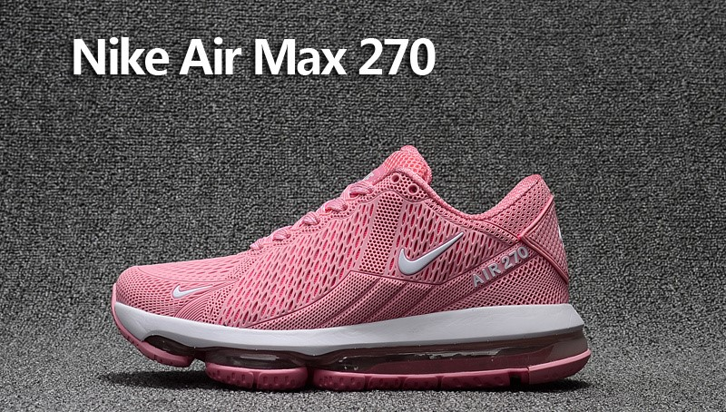 b844f8074891c0 Beautiful Nike Air Max 270 Pink White Women s Sport Running Shoes Sneakers  ...