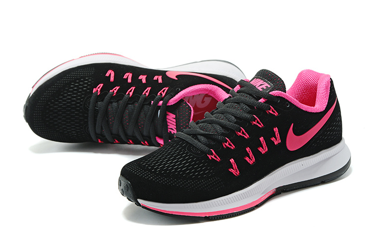 new concept 06295 c534c ... Free Shipping Nike Air Zoom Pegasus 33 Black Pink 834316 066 Women's  Running Shoes ...